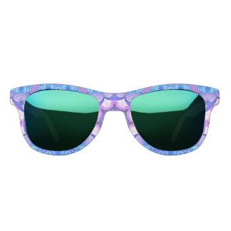 明るく青いピンクの抽象芸術パターン サングラス