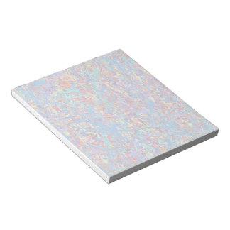 明るく青いペンキの(ばちゃばちゃ)跳ねるの抽象芸術 ノートパッド