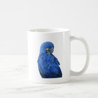 明るく青いHyacinthのコンゴウインコ コーヒーマグカップ