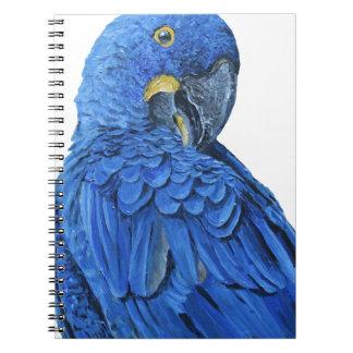 明るく青いHyacinthのコンゴウインコ ノートブック