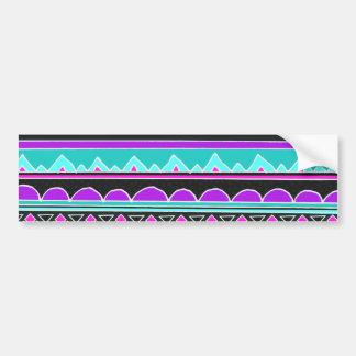 明るく青および紫色の種族パターン バンパーステッカー