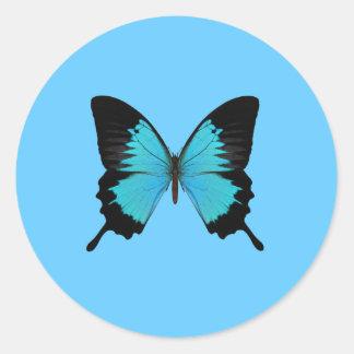 明るく青及び黒い蝶オリジナル色 ラウンドシール