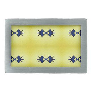 明るく鮮やかで黄色い海軍パターン 長方形ベルトバックル