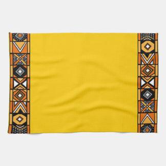 明るく黄色いアフリカの芸術の台所タオル キッチンタオル