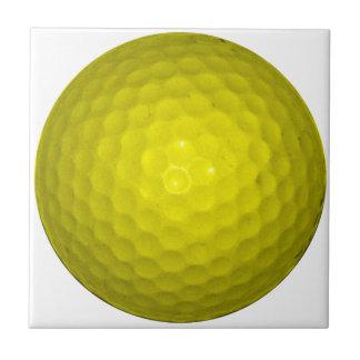 明るく黄色いゴルフ・ボール タイル