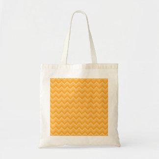 明るく黄色いジグザグパターン トートバッグ