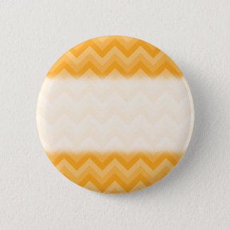 明るく黄色いジグザグパターン 5.7CM 丸型バッジ