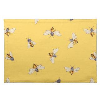 明るく黄色いランチョンマットの蜂 ランチョンマット