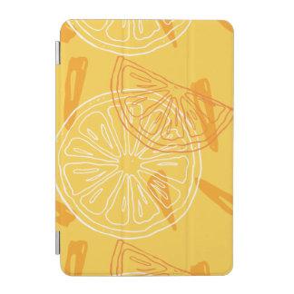 明るく黄色いレモンによって描かれる夏パターン iPad MINIカバー