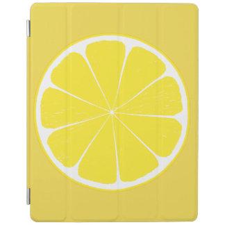 明るく黄色いレモン柑橘類の切れのデザイン iPadスマートカバー