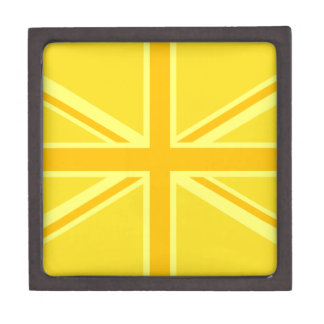 明るく黄色い英国国旗のイギリスの旗の装飾 ギフトボックス