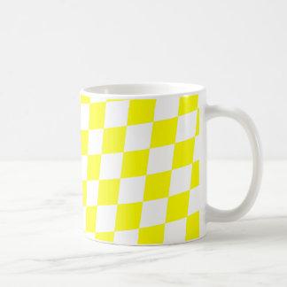 明るく黄色い~のダイヤモンドパターン コーヒーマグカップ
