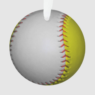 明るく黄色および白いソフトボール