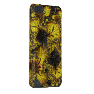 明るく黄色く黒いフラクタル iPod TOUCH 5G ケース