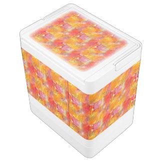 明るく、はっきりしたで、カラフルで、陽気で、幸せなパターン クールボックス