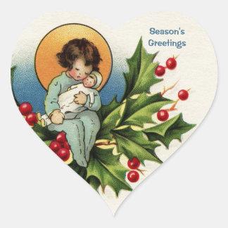 明るく、嬉しいクリスマスを望むため ハートシール