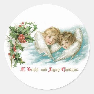 明るく、嬉しいクリスマス ラウンドシール
