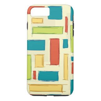 明るく、幸せな着色された長方形 iPhone 8 PLUS/7 PLUSケース