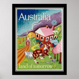 明日のヴィンテージポスターのオーストラリアの土地 ポスター