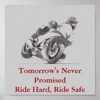 明日の決して約束された乗車堅い乗車の金庫 ポスター