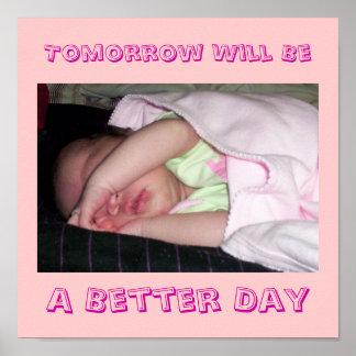 明日は、よりよい日あります ポスター