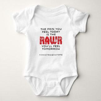 明日今日苦痛- RAWR ベビーボディスーツ