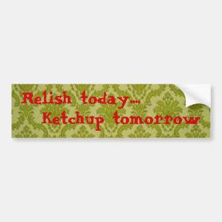 明日今日風味の…ケチャップの-バンパーステッカー バンパーステッカー