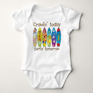 明日今日Crawlin。.surfin ベビーボディスーツ