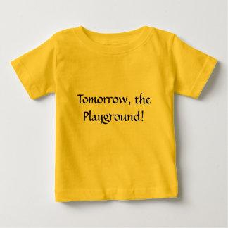 明日、運動場! ベビーTシャツ