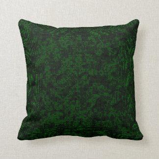明暗中間部の深緑色 クッション
