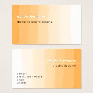 明白でエレガントでシンプルなオレンジ水彩画のパステル 名刺