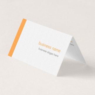 明白でエレガントでモダンでシンプルなオレンジのストライプ 名刺