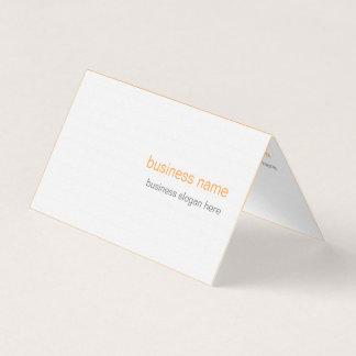 明白でエレガントでモダンでシンプルなオレンジ背景 名刺