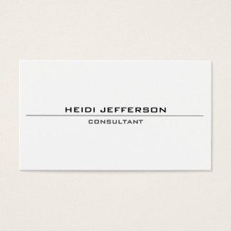 明白でシンプルで白く魅力的な標準的な両面 名刺