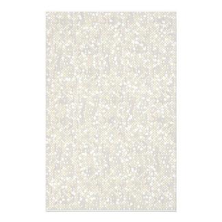 明白で白い紙吹雪のグリッター 便箋