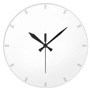 明白で白くシンプルな最小主義の全白の柱時計 ラージ壁時計