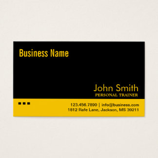 明白で黒く及び黄色のトレーナーの名刺 名刺