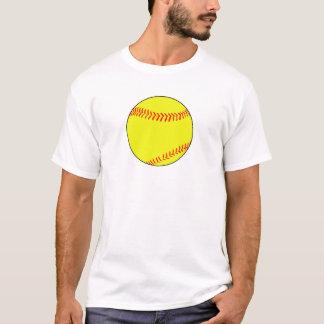 明白で、シンプルなFastpitchのソフトボールの人のTシャツ Tシャツ