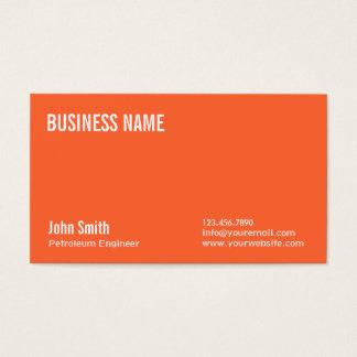 明白なオレンジ石油エンジニアの名刺 名刺