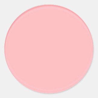 明白なクリーム色の陰: あなたの文字nのイメージを加えて下さい ラウンドシール