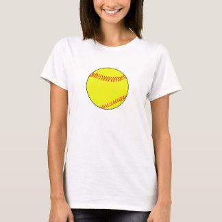 明白なシンプルなFastpitchのソフトボールの女性のTシャツ Tシャツ