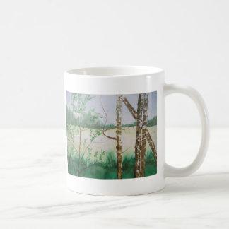 明白なシンプル コーヒーマグカップ