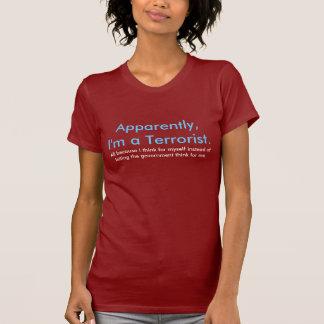 明白なテロリスト Tシャツ