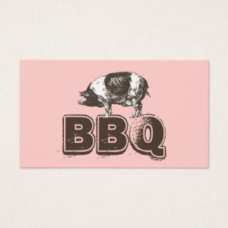 明白なピンクBBQのポーク名刺 名刺