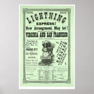 明白な稲妻! (1831A) ポスター