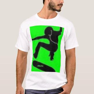 明白な緑のワイシャツ Tシャツ