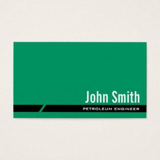 明白な緑の石油エンジニアの名刺 名刺