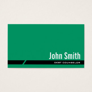 明白な緑の負債のカウンセラーの名刺 名刺