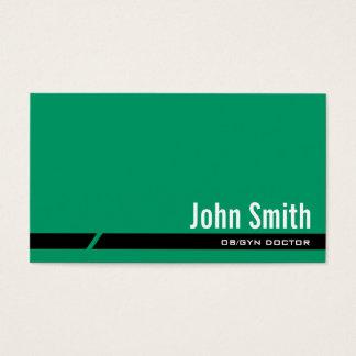 明白な緑の黒のストライプOB/GYNの名刺 名刺