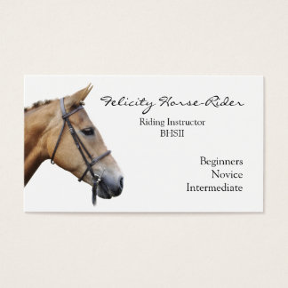 明白な背景の馬の頭部 名刺